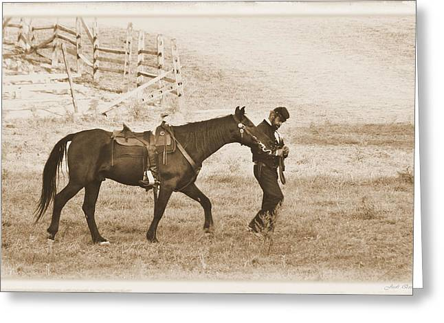 Greeting Card featuring the photograph Honorig A Fallen Soldier by Judi Quelland