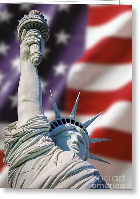 Honour Liberty And Freedom Greeting Card