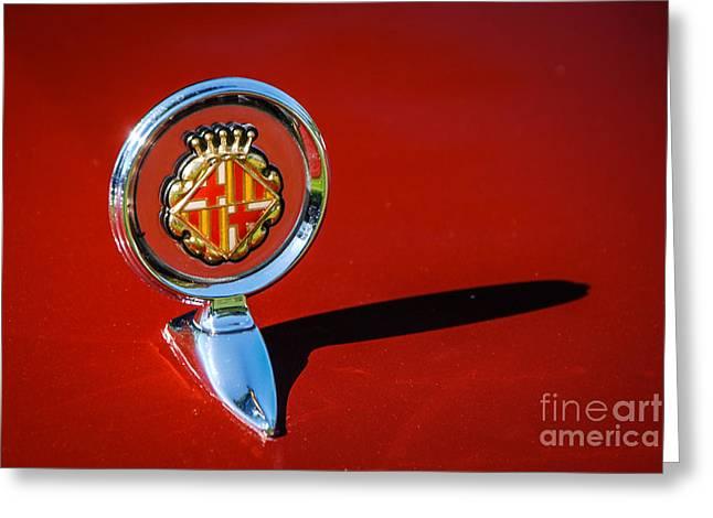 Hood Ornament On Matador Barcelona II Coupe Greeting Card