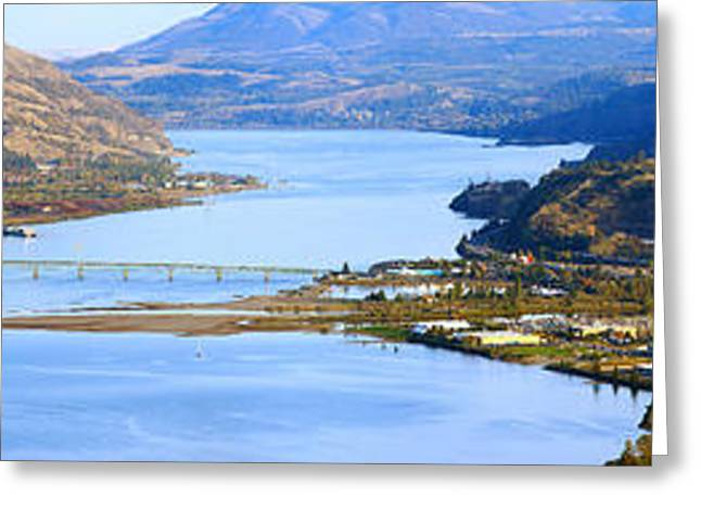 Hood River Bridge, Hood River, Oregon Greeting Card by Panoramic Images