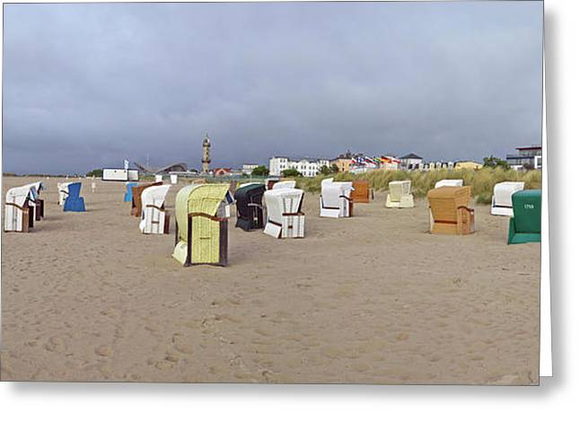 Hooded Beach Chairs On The Beach Greeting Card