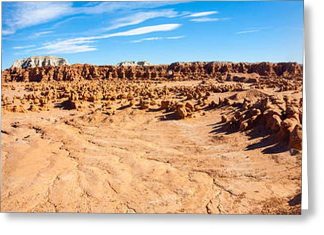 Hoodoo Formations, Goblin Valley Greeting Card by Panoramic Images