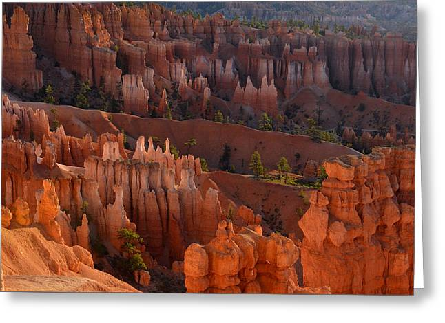 Greeting Card featuring the photograph Hoodoo Glow At Sunrise by Stephen  Vecchiotti