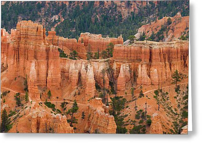 Hoodoo Rock Formations In A Canyon Greeting Card