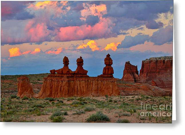 Hoodoo Storm Greeting Card by Marty Fancy