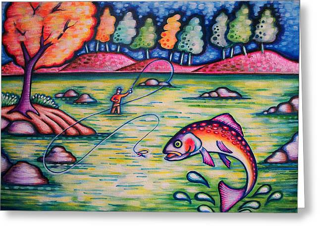 Hooked On You? Greeting Card by Brenda Higginson