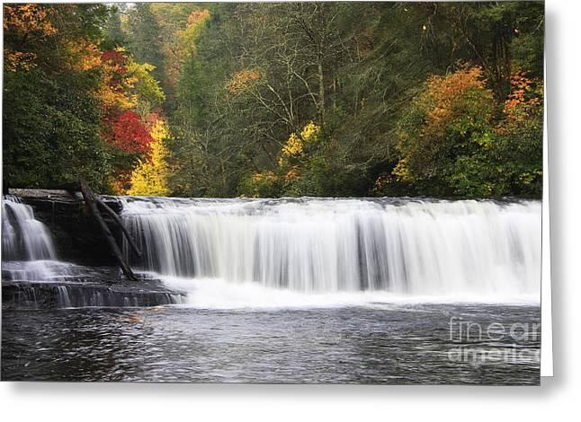 Hooker Falls In North Carolina Greeting Card