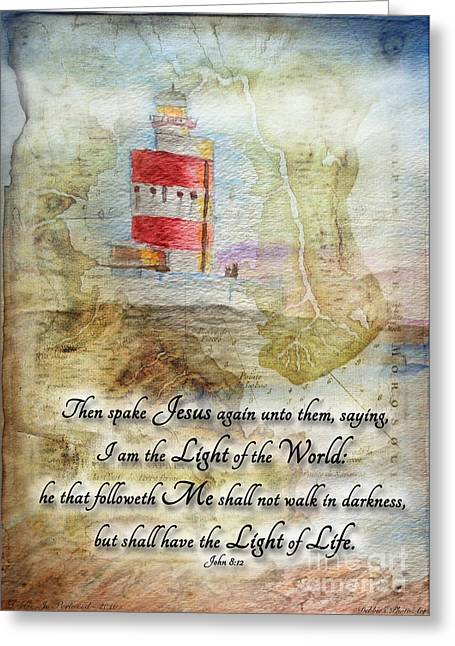 Hookhead Lighthouse Painting With Verse Greeting Card