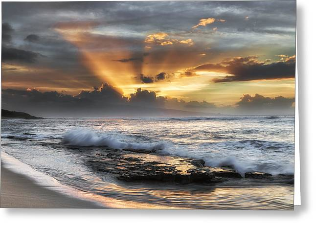 Ho'okipa Sunset Greeting Card