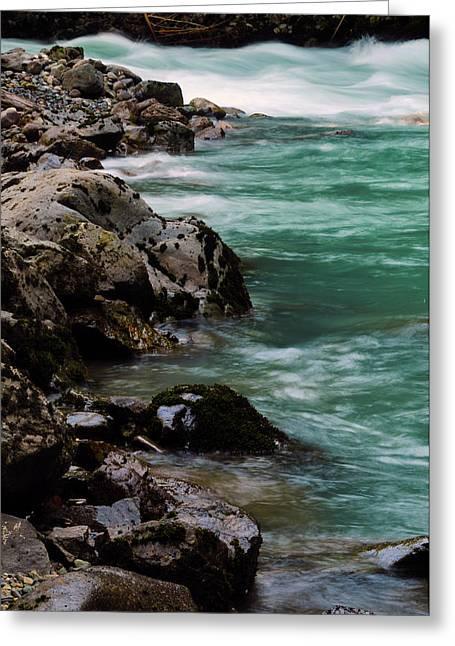 Hooksack River, Mount Baker-snoqualmie Greeting Card by Michel Hersen