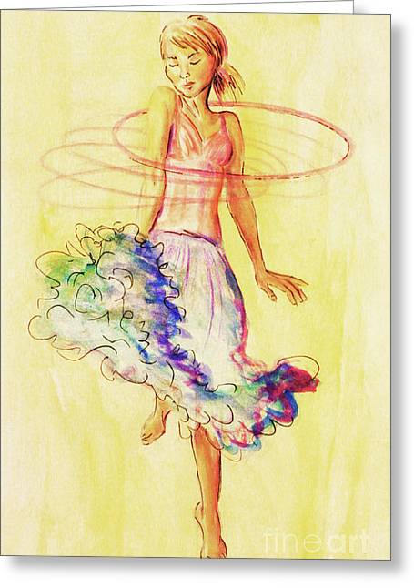 Hoop Dance Greeting Card
