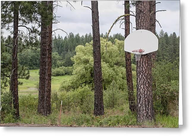 Hoops Greeting Card by Carter Jones