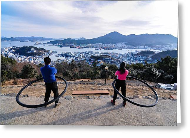 Hoops On The Mountaintop Greeting Card