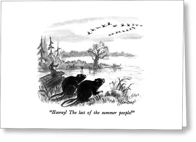 Hooray!  The Last Of The Summer People! Greeting Card
