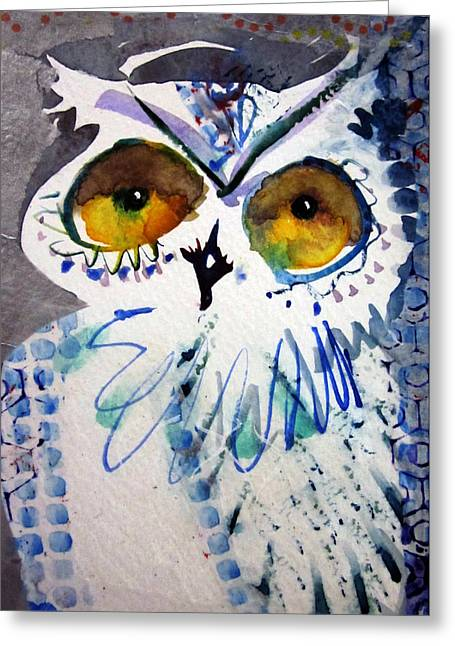 Hoot Uncropped Greeting Card
