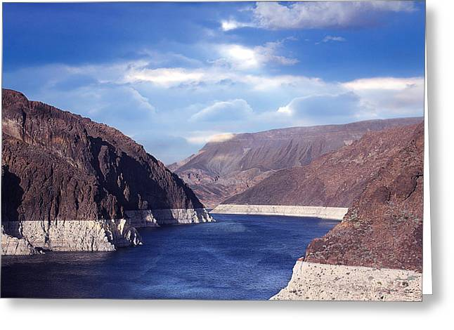 Hoover Dam Greeting Card by Yosi Cupano