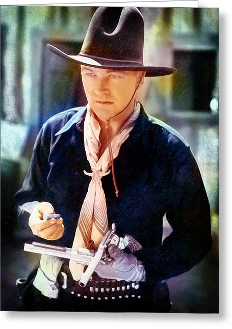 Hopalong Cassidy Greeting Card by David Blank