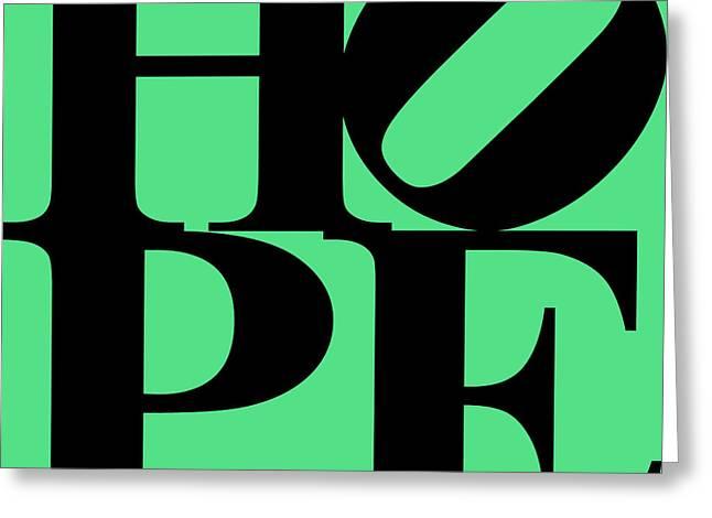 Hope 20130710 Black Green Greeting Card