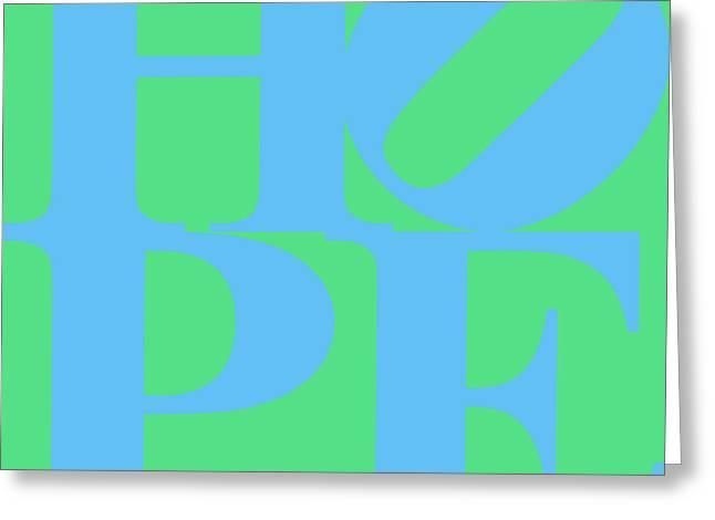 Hope 20130710 Blue Green Greeting Card
