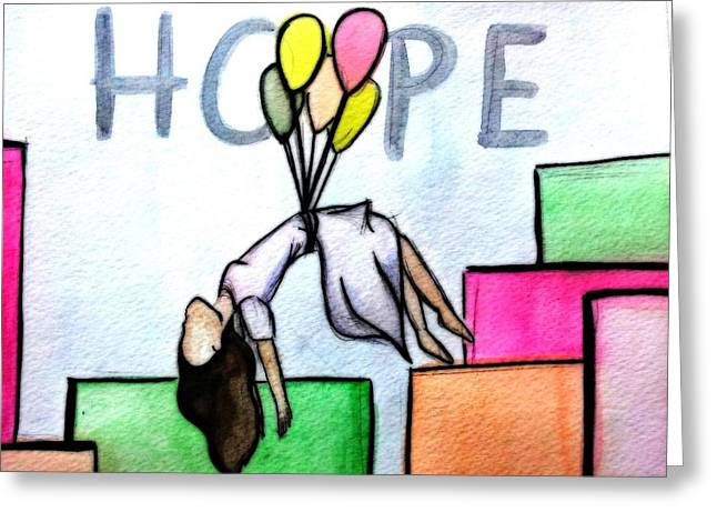 Hope Afloat  Greeting Card by Kiara Reynolds