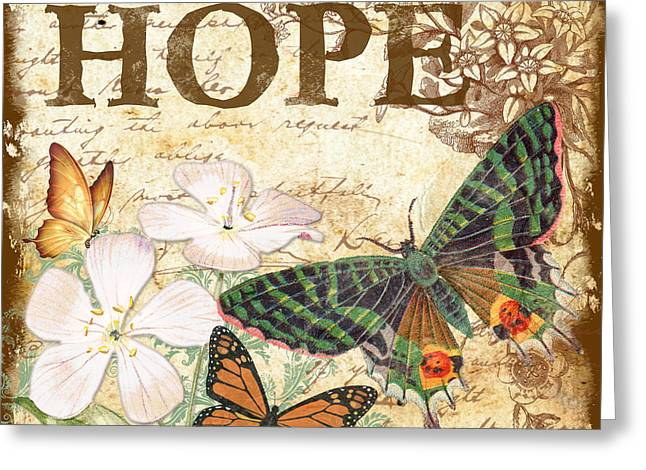 Hope And Butterflies Greeting Card