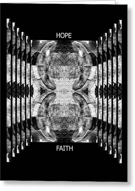 Hope And Faith Echo Yoga Crow Pose Greeting Card by Deprise Brescia