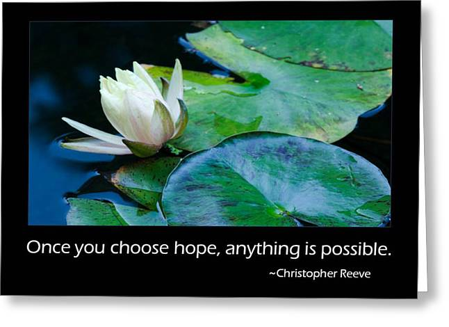 Hope Greeting Card by Don Schwartz