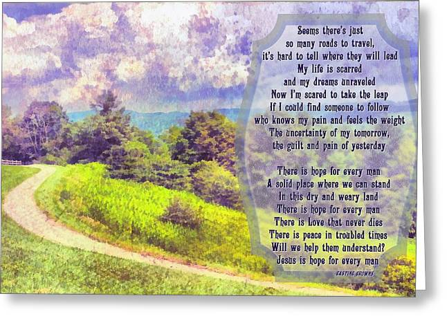 Hope For Every Man Greeting Card by Michelle Greene Wheeler
