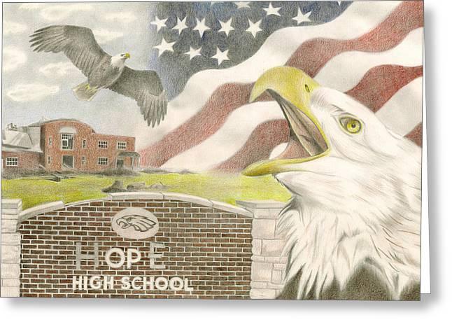 Hope High School Greeting Card by Dustin Miller