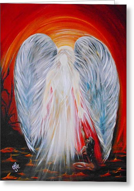 Hope In Hell - Michael Archangel Series Greeting Card