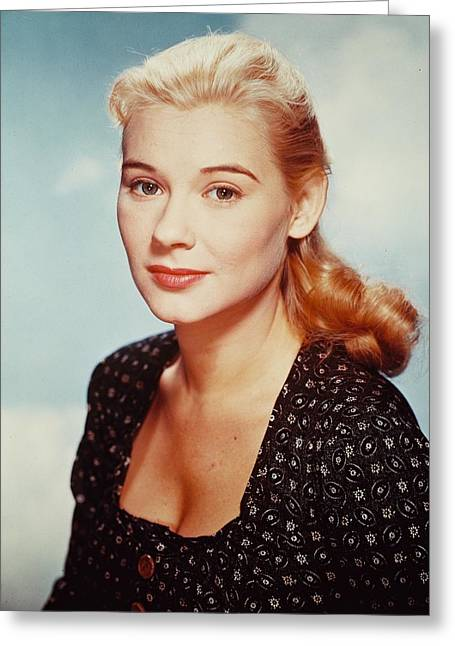 Hope Lange Greeting Card by Silver Screen