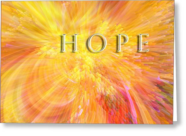 Hope Greeting Card by Margie Chapman