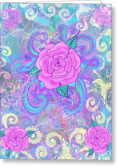Hope Roses Greeting Card by Alixandra Mullins