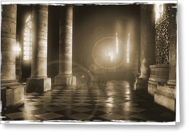 Hope Shinning Through Greeting Card by Mike McGlothlen