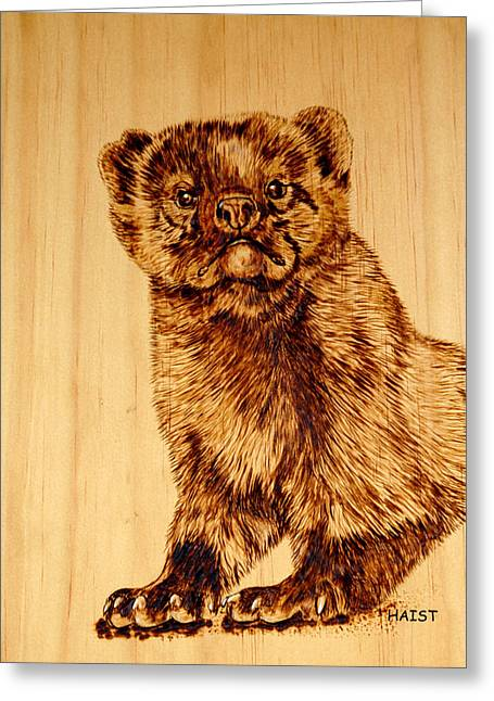 Hope's Marten Greeting Card by Ron Haist