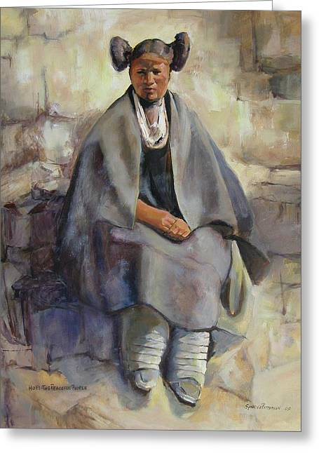 Hopi Girl Seated Greeting Card
