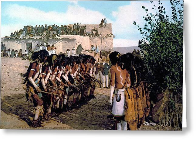 Hopi Snake Dance, C1902 Greeting Card by Granger