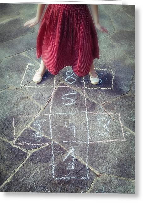 Hopscotch Greeting Card by Joana Kruse