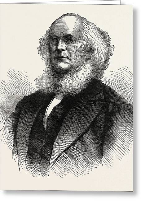Horace Greeley, He Was An American Newspaper Editor Greeting Card