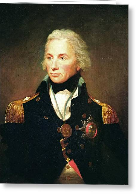 Horatio Nelson, Viscount Nelson Oil On Canvas Greeting Card