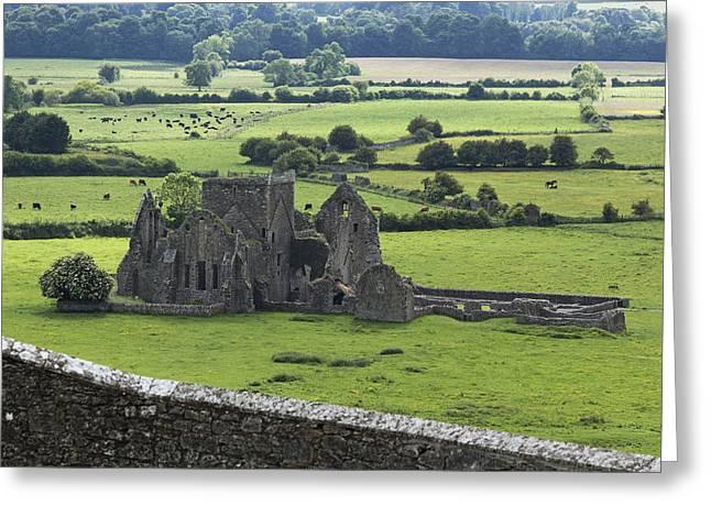 Hore Abbey Near Cashel_ County Greeting Card by Carl Bruemmer