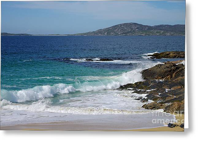 Greeting Card featuring the photograph Horgabost Beach Harris by Jacqi Elmslie