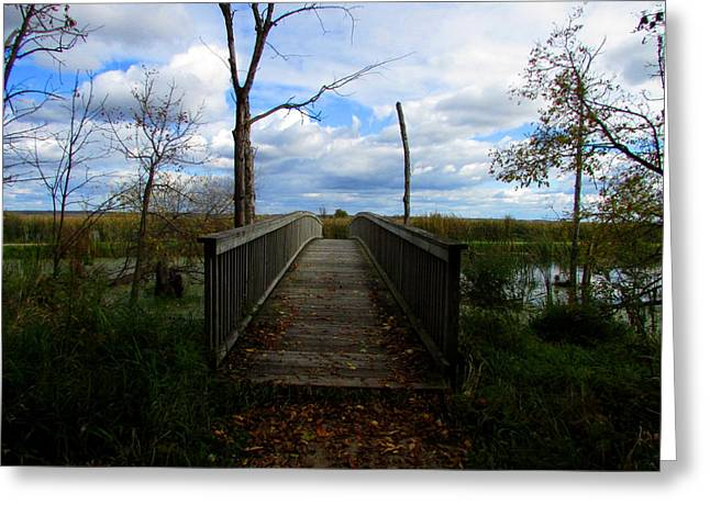 Greeting Card featuring the photograph Horicon Bridge In Autumn by Kimberly Mackowski