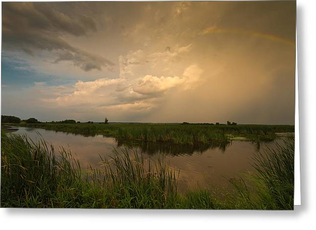 Horicon Marsh Storm Greeting Card by Steve Gadomski