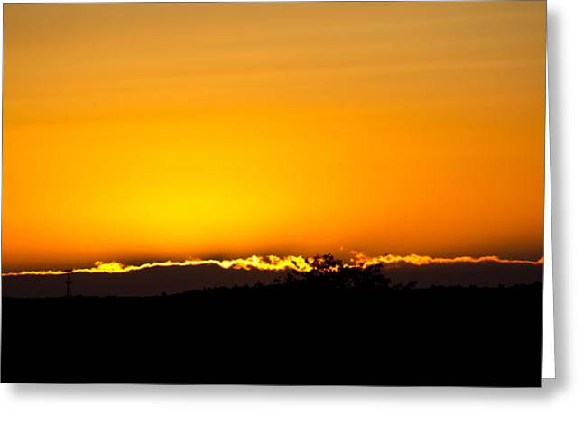 Horizon Line Greeting Card by Tom Gari Gallery-Three-Photography