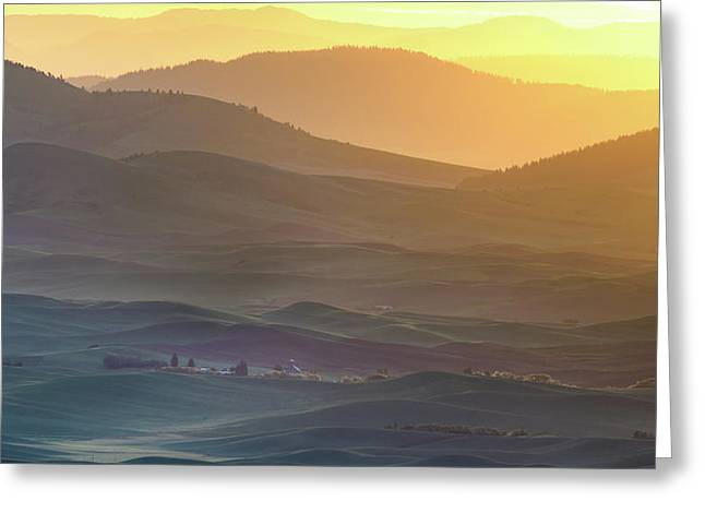 Horizon Profile Of Palouse Greeting Card