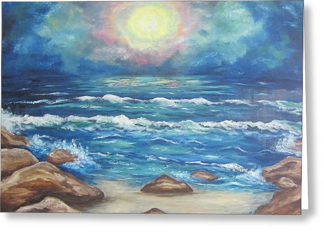 Greeting Card featuring the painting Horizons 2 by Cheryl Pettigrew