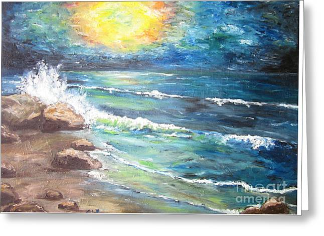 Greeting Card featuring the painting Horizons by Cheryl Pettigrew
