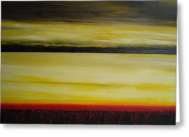 Greeting Card featuring the painting Horizons by Tamara Bettencourt