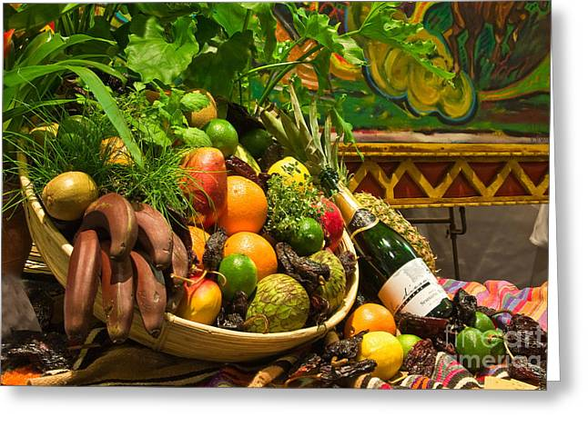 Greeting Card featuring the photograph Fruit And Wine 1 by Mae Wertz
